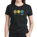 Peace Love Occupational Therapy Women's Dark T-Shi