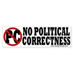 Anti PC Conservative Bumper Sticker