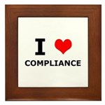I (heart) Compliance Framed Tile