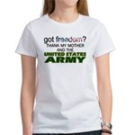 Got Freedom? Army (Mother) Women's T-Shirt