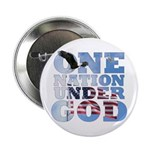 """One Nation Under God"" 2.25"" Button"