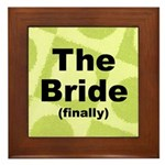 Finally the Bride Wall Art Framed Tile
