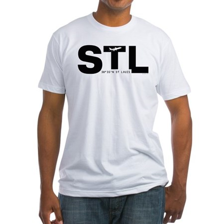 St. Louis Missouri STL Black Des. Fitted T-Shirt