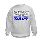 Got Freedom? Navy (Mother) Kids Sweatshirt