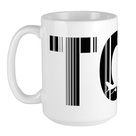 Tromso Airport Code Norway TOS Large Mug