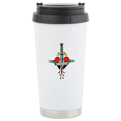 CafePress > Mugs > Mi Vida Loca Tattoo Art Travel Mug. Mi Vida Loca Tattoo Art Travel Mug
