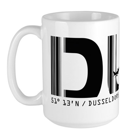 Dusseldorf Airport Code Germany DUS Large Mug