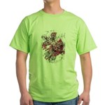 """Blood on the Cross"" Green T-Shirt"
