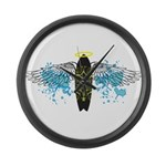 """Surf Angel: Tribe"" Large Wall Clock"