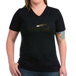 Funny Phlebotomy & Nursing Women's V-Neck Dark T-S