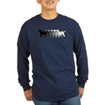 Gradient Labradors Long Sleeve Dark T-Shirt