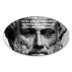 Greek Philosophy: Aristotle Oval Sticker
