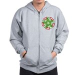 Celtic Christmas Star Zip Hoodie