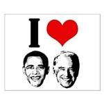 I Heart Obama Biden Small Poster