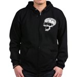 Screaming Skull Zip Hoodie (dark)
