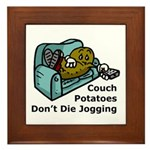 Couch Potato Jogging Framed Tile