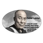 The 14th Dalai Lama Oval Sticker