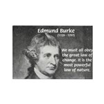 Edmund Burke Rectangle Magnet