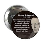 "Simone De Beauvoir 2.25"" Button (100 pack)"