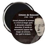 "Simone De Beauvoir 2.25"" Magnet (100 pack)"