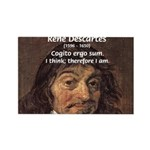 Philosopher Rene Descartes Rectangle Magnet (10 pa