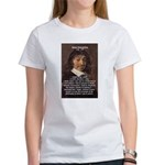 Philosopher Rene Descartes Women's T-Shirt