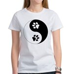 Yin Yang Paws Women's T-Shirt