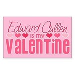 Edward Twilight Valentine Rectangle Sticker
