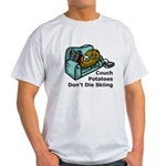 Couch Potato Skiing Light T-Shirt