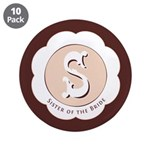 "Market Sister of the Bride 3.5"" Button (10 pack)"