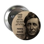 "Henry David Thoreau 2.25"" Button (100 pack)"