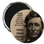 "Henry David Thoreau 2.25"" Magnet (100 pack)"