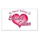 Edward Cullen Heart Rectangle Sticker 50 pk)