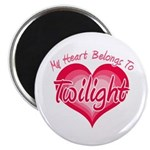 "Heart Belongs Twilight 2.25"" Magnet (10 pack)"