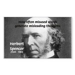 Evolutionist Herbert Spencer Rectangle Sticker