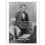 Lincoln with Sojourner Truth Small Poster