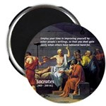"Socrates: Knowledge Books Wisdom 2.25"" Magnet (10"