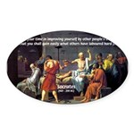 Socrates: Knowledge Books Wisdom Oval Sticker