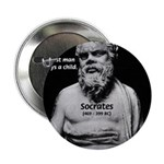 "Wisdom of Socrates 2.25"" Button (10 pack)"