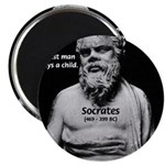 "Wisdom of Socrates 2.25"" Magnet (10 pack)"
