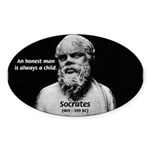 Wisdom of Socrates Oval Sticker