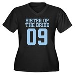 Sister of Bride 09 Women's Plus Size V-Neck Dark T
