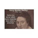 Romantic Poet Percy Shelley Rectangle Magnet (100