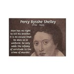 Writer Percy Bysshe Shelley Rectangle Magnet (10 p