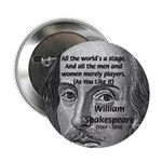 "Playwright William Shakespeare 2.25"" Button (10 pa"