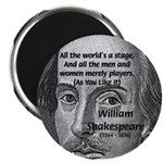 "Playwright William Shakespeare 2.25"" Magnet (10 pa"