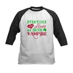 Irish Vampire Twilight Kids Baseball Jersey