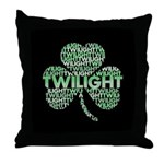 Twilight Shamrock Throw Pillow