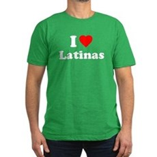 I Love [Heart] Latinas Mens Fitted Dark T-Shirt