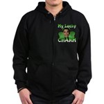 Obama My Lucky Charm Zip Hoodie (dark)